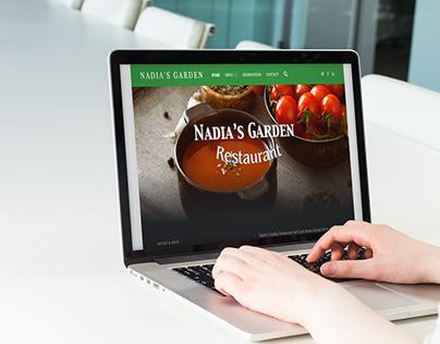 Nadia's Garden - wordpress website