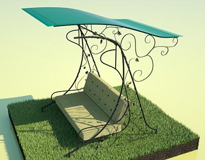 Garden Swing Wrought iron