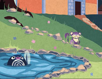 Pokemon Travel Poster - Viridian City