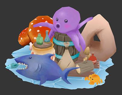 3D Cartoon Scenes