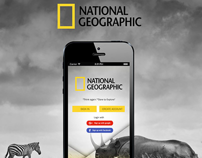 National Geography | Mobile application UX UI Design