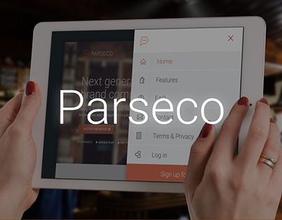 Parseco App - Landing Page