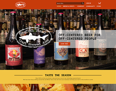 Dogfish Head Brewery: Website & Mobile Site (Redesign)
