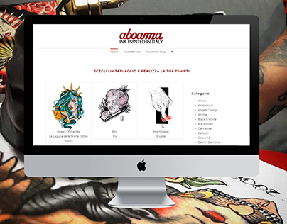 Aboama: web-ecommerce-registrazione-upload-rendering