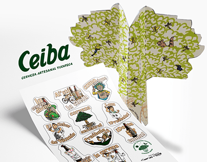 Cerveza Ceiba papiroarmable & stickers