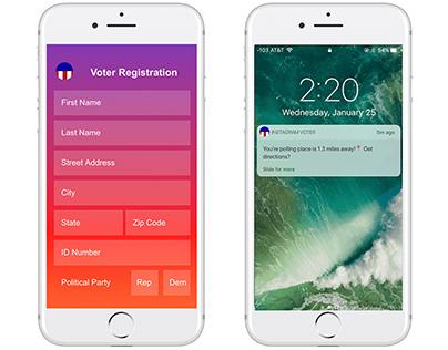 Instagram Voter Registration API