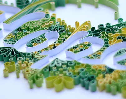 Quilling Lettering Words