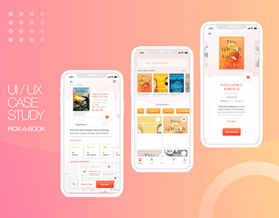 UI/UX Design & Research - Book Commerce