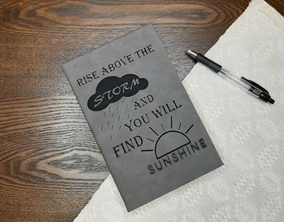 Laser Engraved Journal Cover