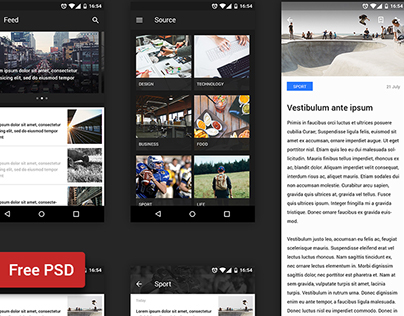 Freebie - Reader UI kit (Android)