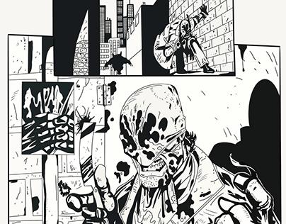 Wolverine/ Rorschach inking practice