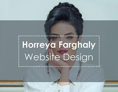 Horreya Farghaly Website Design