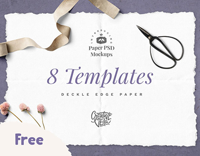 Free Hand-Made Paper Mockup Set
