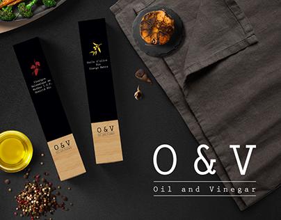O&V Oil and Vinegar - Branding (fictional)