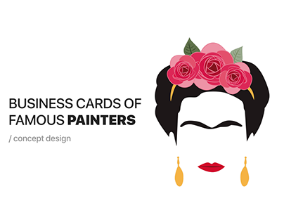 Business Cards of Famous Painters - A Fun Project!