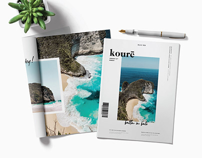 Kourē: Layout, Editiorial design | Travel Magazine