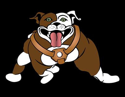 Thug-dog walk cycle animation
