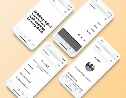 Personal Website - iPhone X Mockup