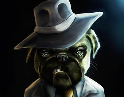 Gangster Pug