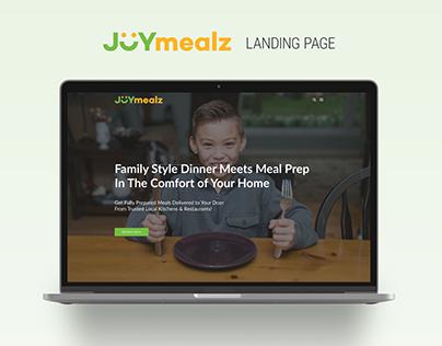 JOYmealz Shopify Landing Page