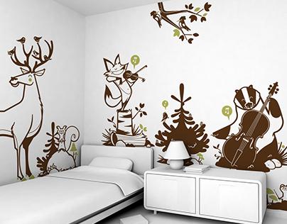 forest animals :: children's wall decals