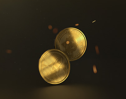 Cryprocurency Medal Coin Mock up
