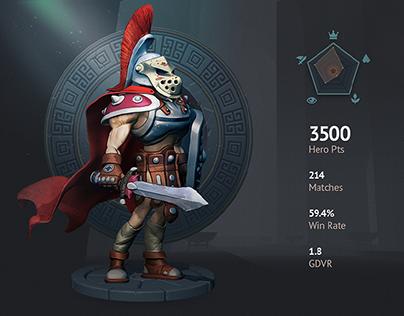 Moba game UI mockup + Character design