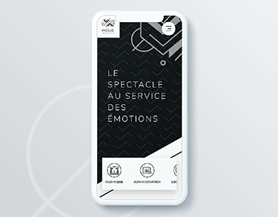Modjo Production webdesign