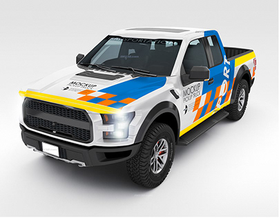 American Pick-up Truck - Mock-up Set