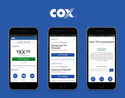 Cox.com My Account Experience