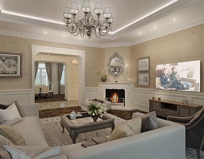 Квартира в классическом стиле с камином в г. Одесса