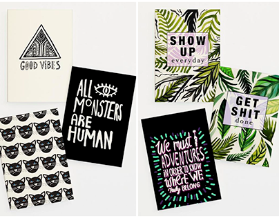 Illustrated Gift Card Sets for JUNIQE