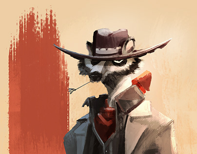 Raccoon Spaguetti Western