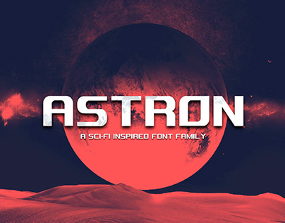 ASTRON - FREE SCI-FI DISPLAY FONT