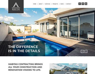Habitas Contracting - Website Design