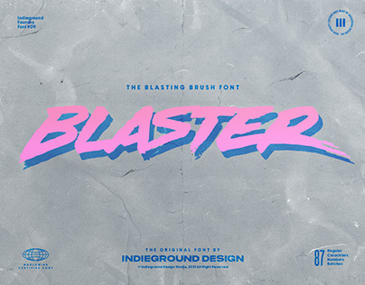 Blaster Free Font
