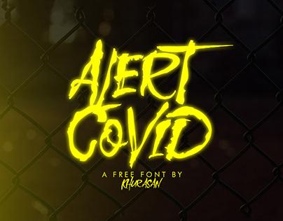 Free Alert Covid Brush Font
