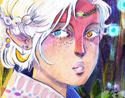 「花笑み」 illustrations II