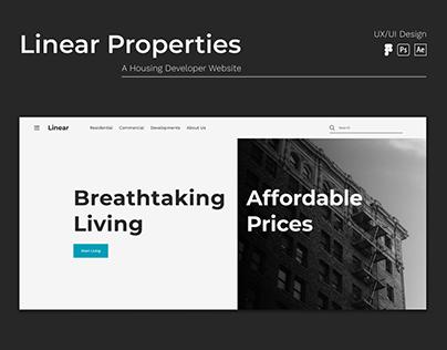 Linear Properties - Housing Developer Website UI/UX