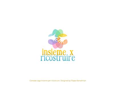 Insieme per ricostruire - Concept logo