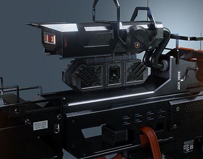 The Hacker - hardsurface machine design - 3D modeling