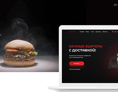 Landing page Burger FastFood