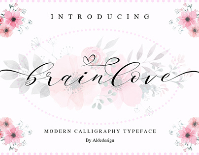 Free Brainlove Lovely Calligraphy Font