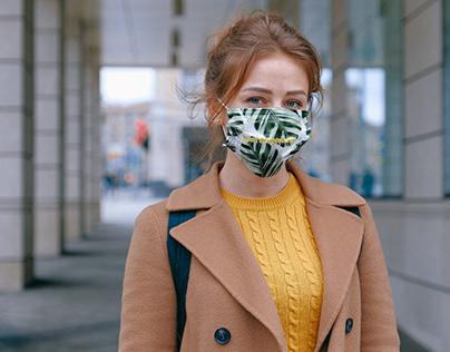 Woman in Mask Mockup