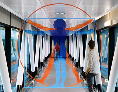 Vitruvian Man | Leonardo Da Vinci Airport, Rome