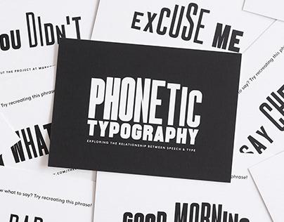 Phonetic Typography