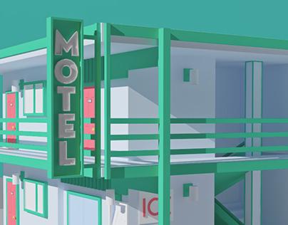 Lowpoly Motel