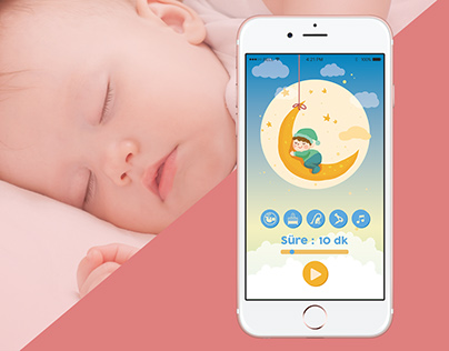 Baby Sleepy App Design