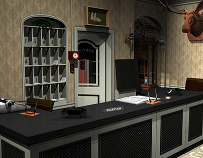 "Fawlty Towers Revisited | 3D ""Virtual"" Set"