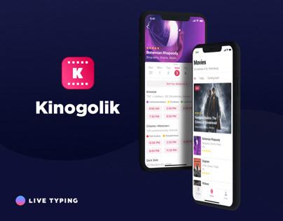 Mobile UI Design: Kinogolik app